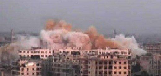 ۱_انهدام-ساختمان-اصلی-تمرکز-نظامیان-اسد-در-حلب