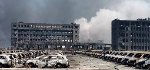 نابودی دهمین بندر بزرگ جهان در انفجارهای مهیب شمال چین