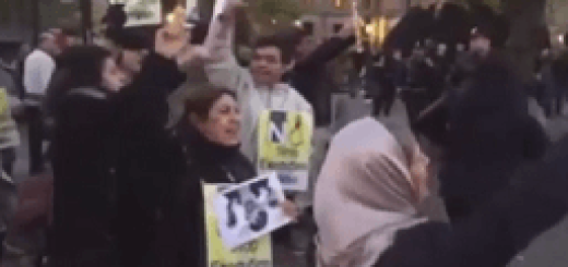 ایرانیان در نروژ تظاهرات رژیم را بر هم زدند (۱)