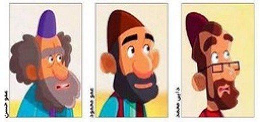 انیمیشن مسخره آمیز روحانی