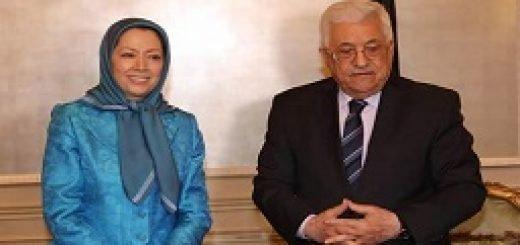 خانم مریم رجوی با آقای محمود عباس