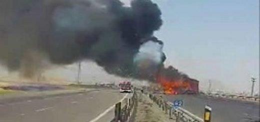 مهمات منفجر شده اتوبان زنجان ـ قزوین متعلق به یکانهای سپاه بود