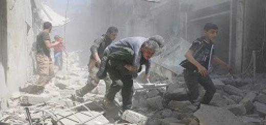 بمباران شیمیایی مناطقی در حلب - 222