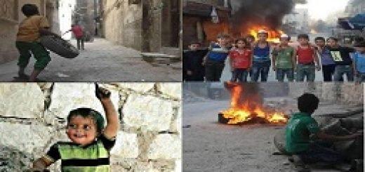 تلاش کودکان سوری