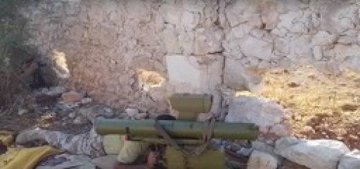 شلیک موشک تاو توسط رزمندگان سوری