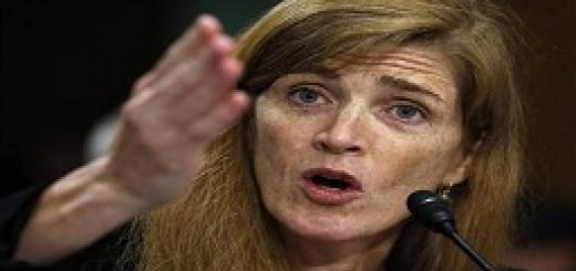 Samantha Power testifies before a Senate Foreign Relations Committee confirmation hearing in Washington
