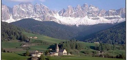 منظره کوههای آلپ در ایتالیا
