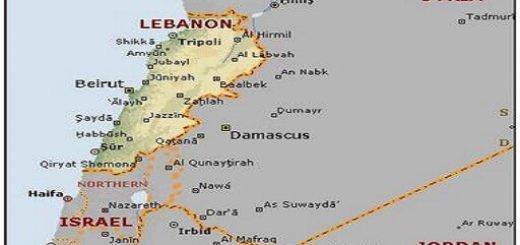 نقشه لبنان