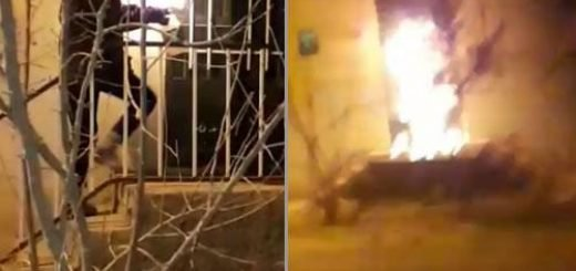 به آتش کشیدن پایگاه بسیج ضدمردمی در شاهرود