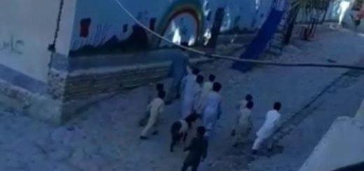 شعار مرگ بر روحانی توسط کودکان زاهدان