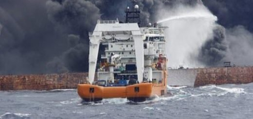غرق شدن نفتکش سانچی در آبهای چین