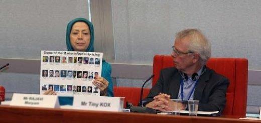 مریم رجوی در اجلاس رسمی گروه اتحاد چپهای اروپا