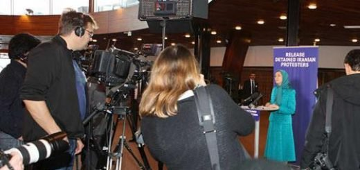 مریم رجوی در کنفرانس مطبوعاتی در شورای اروپا