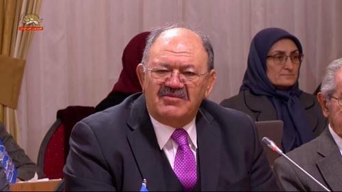 پهلوان مسلم اسکندر فیلابی در اجلاس میاندورهیی شورای ملی مقاومت ایران
