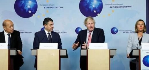 کنفرانس خبری وزیران خارجه سه کشور اروپایی با موگرینی،