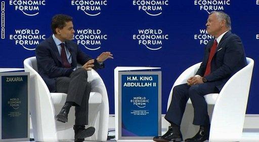 ملک عبدالله دوم پادشاه در مصاحبهیی با سی.ان.ان