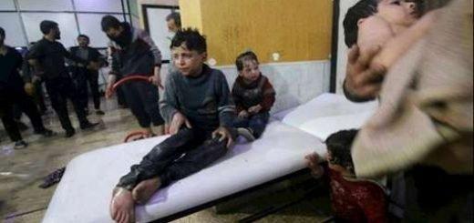 حمله وحشیانه موشکی اسد به دوما