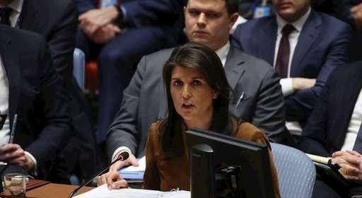 نیکی هیلی سفیر آمریکا در سازمان ملل متحد