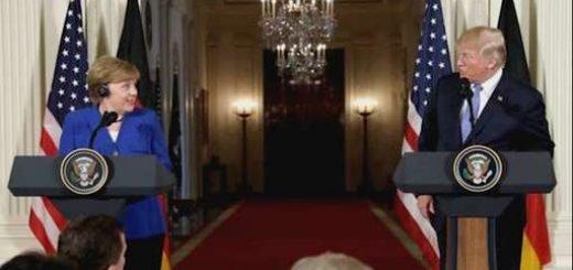دونالد ترامپ - آنگلا مرکل