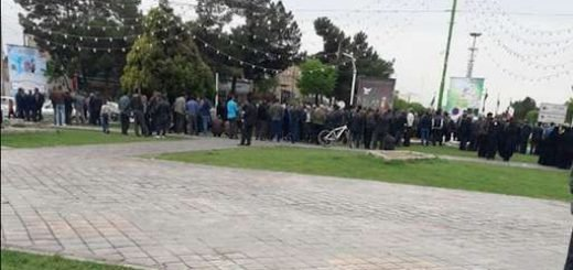 اصفهان.تظاهرات بزرگ مردم وکشاورزان معترض اصفهان در فلکه خوراسگان.970123