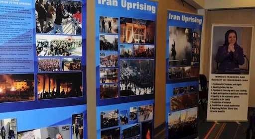 حمایت از قیام مردم ایران و محکومیت نقض حقوق بشر در ایران