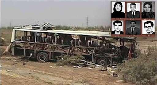 انفجار اتوبوس مجاهدین توسط تروریستهای رژیم آخوندی