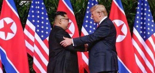 دیدار رئیس جمهور آمریکا و رهبر کره شمالی _سنگاپور_۲۲خرداد ۱۳۹۷