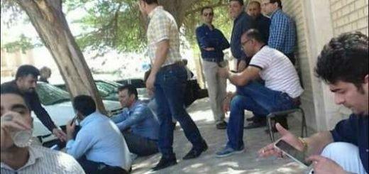 اهواز.سومین روز تجمع اعتراضی کارگران فولاد اهواز مقابل قضاییه آخوندی