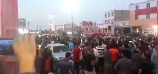 تظاهرات مردم خرمشهر با شعار هیهات مناالذله ۹تیر ۹۷