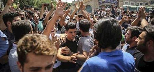 عکسی از آسوشیتدپرس از تظاهرات مردم تهران - ۴تیر۹۷