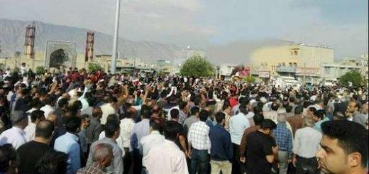 تجمع اعتراضی مردم کازرون - آرشیو