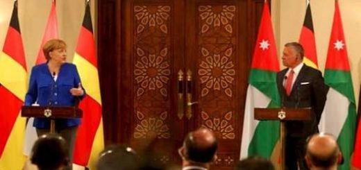 آنگلا مرکل در دیدار با ملک عبدالله در اردن