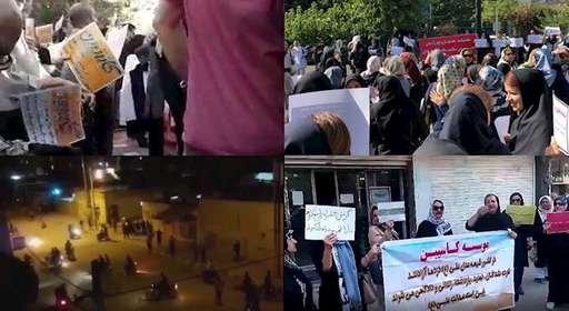 اعتراضات و تظاهرات در شهرهای تهران و رشت و سربندر و میناب