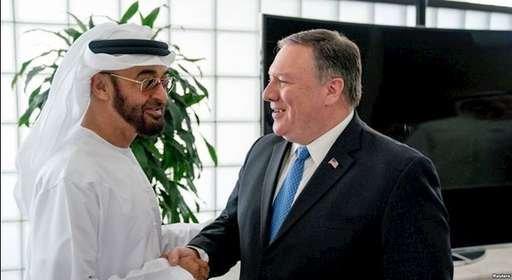 مایک پمپئو در دیدار با ولیعهد ابوظبی در امارات