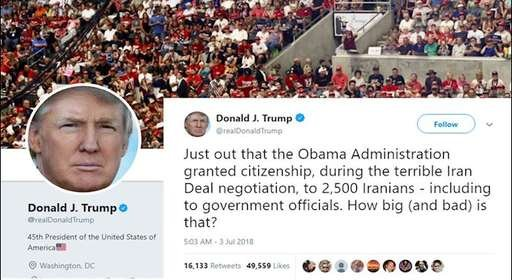 توئیت دونالد ترامپ