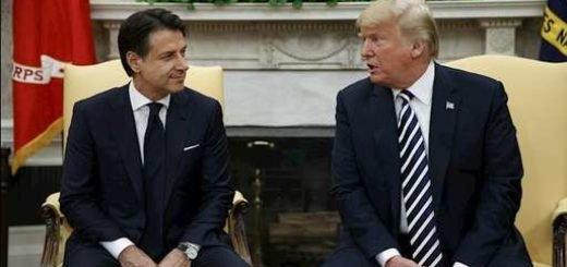 دونالد ترامپ رئیس جمهور آمریکا - جوزپه کونته نخست وزیر ایتالیا