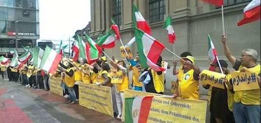 تظاهرات علیه حضور آخوند روحانی در سوئیس