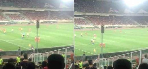 استادیوم آزادی با شعار توپ تانک فشفشه آخوند باید گم بشه -۲۶مرداد۹۷