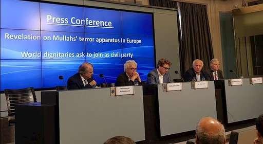 کنفرانس مطبوعاتی مقاومت ایران در بروکسل