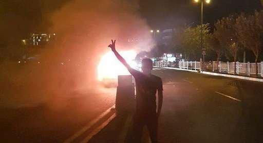 تظاهرات مردم و جوانان در گوهردشت کرج
