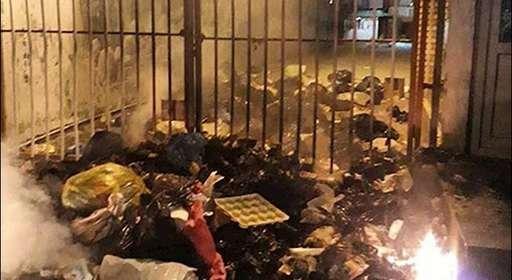 به آتش کشیدن در شهردار مریوان توسط مردم