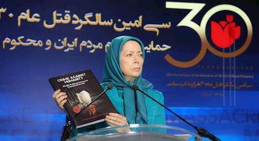 مریم رجوی-قهرمانان قتل عام شده الهام بخش قیام آفرینان در شهرهای شورشی