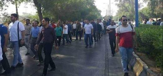 راهپیمایی کارگران گروه ملی اهواز - ۳شهریور۹۷