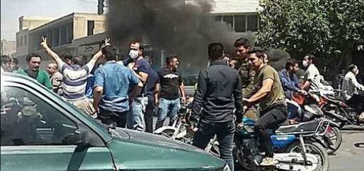 صحنه ای از تظاهرات مردم اصفهان