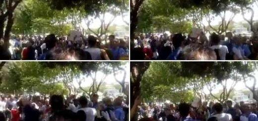 تظاهرات علیه رژیم حقوق دریای خزر روبهروی مجلس ارتجاع