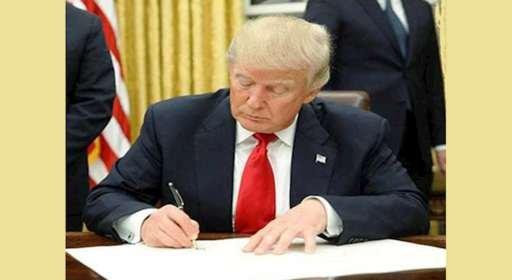 دونالد ترامپ دستور اجرایی اعمال مرحله اول تحریمها علیه رژیم ایران را امضا کرد