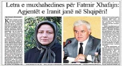 نامه افشاگرانه سمیه محمدی به آقای جافای وزیر کشور آلبانی