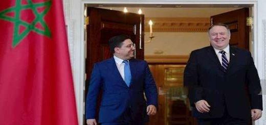دیدار وزرای خارجه آمریکا و مراکش
