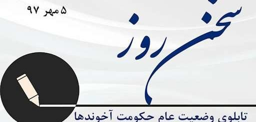 تابلوی عام وضعیت حکومت آخوندها-سخن روز