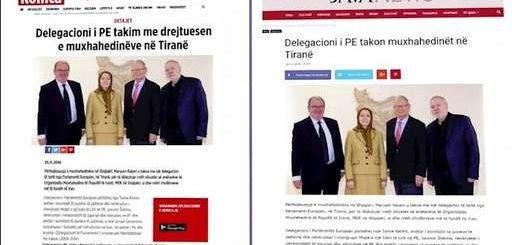 رسانههای آلبانی: ملاقات هیأت بلندپایه پارلمان اروپا با مریم رجوی در تیرانا